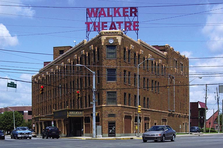 The Madame Walker Theatre Center in downtown Indianapolis