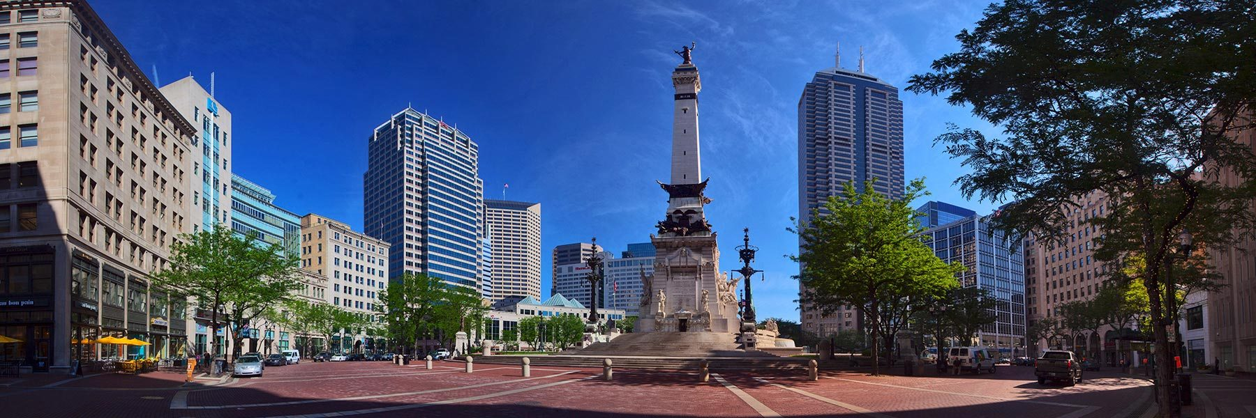 Monument Circle in downtown Indianapolis